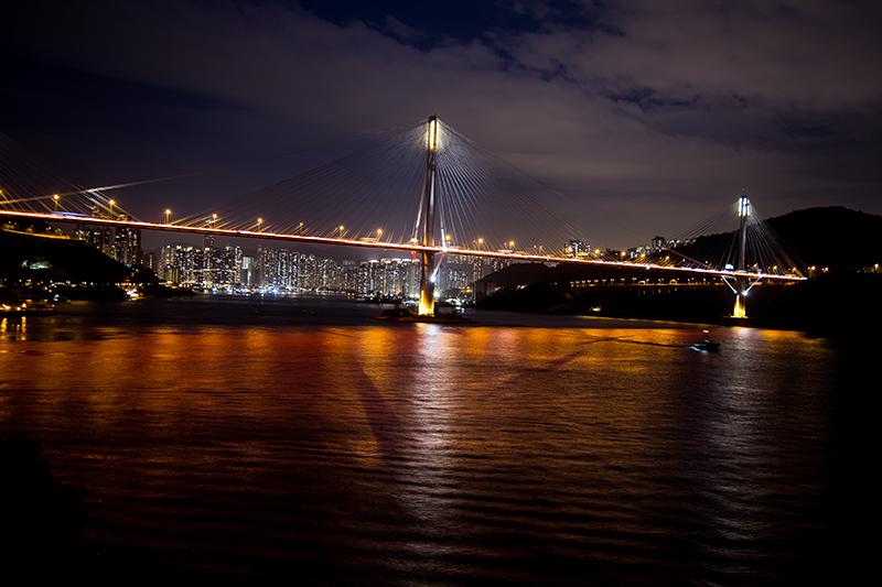 香港青馬大橋夜景
