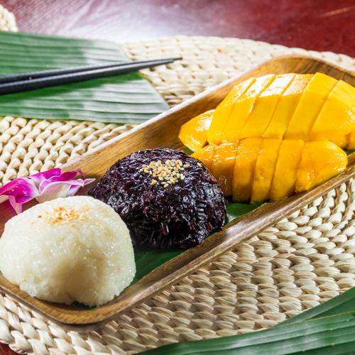 專業攝影師拍攝的芒果椰汁糯米飯
